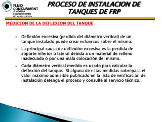 PROCESO DE INSTALACION DE  TANQUES DE FRP