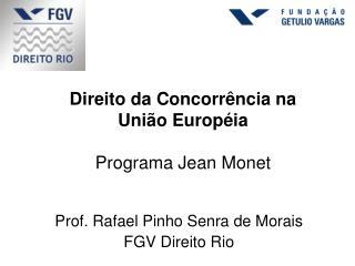 Direito da Concorrência na União Européia Programa Jean Monet