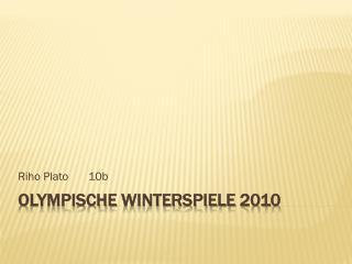 Olympische Winterspiele  2010