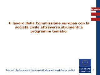 Internet:  ec.europa.eu/europeaid/where/worldwide/index_en.htm