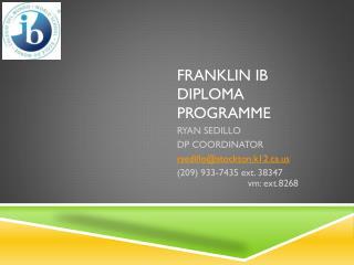 FRANKLIN IB DIPLOMA PROGRAMME