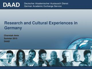 Research and Cultural Experiences in Germany
