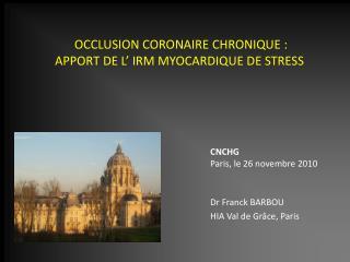 Dr Franck BARBOU HIA Val de Grâce, Paris
