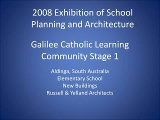 Galilee Catholic Learning Community Stage 1