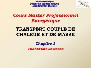 TRANSFERT COUPLE DE CHALEUR ET DE MASSE