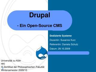Drupal  - Ein Open-Source CMS
