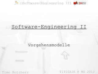 Software-Engineering II