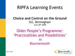 RIPFA Learning Events