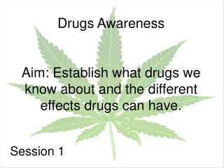 Drugs Awareness