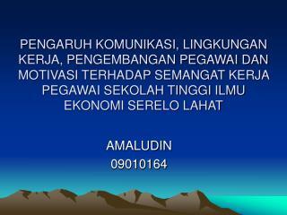 AMALUDIN 09010164