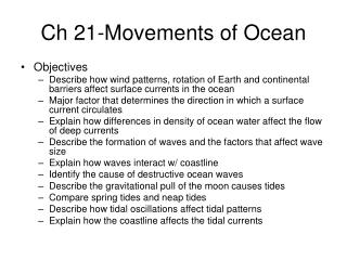 Ch 21-Movements of Ocean