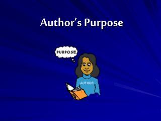 Author�s Purpose