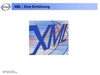 XML - Eine Einführung