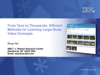 From Tens to Thousands: Efficient Methods for Learning Large-Scale Video Concepts