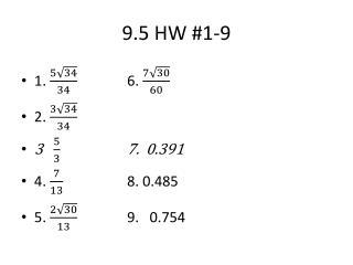 9.5 HW #1-9
