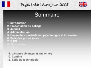 Projet interaction Juin 2008