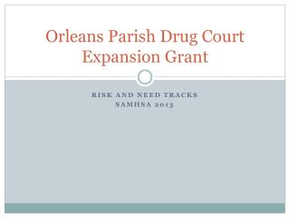 Orleans Parish Drug Court Expansion Grant