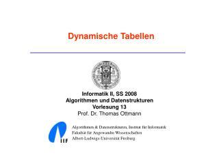 Dynamische Tabellen