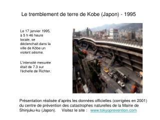 Le tremblement de terre de Kobe Japon - 1995