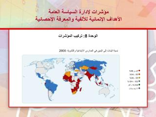 مؤشرات  ل إدارة السياسة العامة  الأهداف الإنمائية للألفية والمعرفة الإحصائية