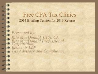 Free CPA Tax Clinics