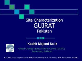 Site Characterization GUJRAT Pakistan