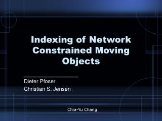 Indexing of Network Constrained Moving Objects