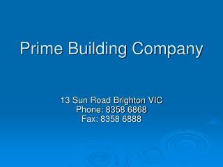 Prime Building Company