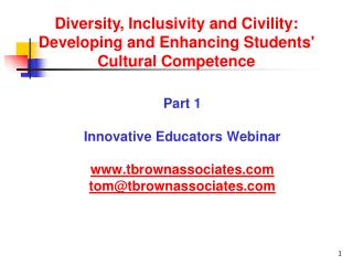 Part 1 Innovative Educators Webinar tbrownassociates tom@tbrownassociates