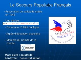 Le Secours Populaire Fran ais