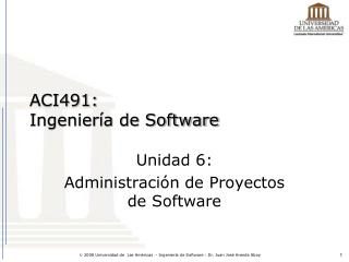 ACI491: Ingeniería de Software