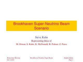 Brookhaven Super-Neutrino Beam Scenario