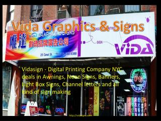Digital Printing Company NYC - Neon Signs NYC - Awnings NYC