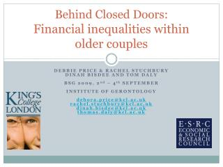 Behind Closed Doors:  Financial inequalities within older couples