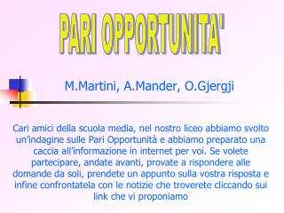 M.Martini, A.Mander, O.Gjergji