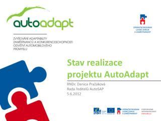 Stav realizace projektu AutoAdapt