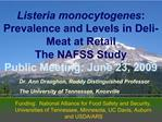 Lm Prevalence and Levels in Deli-Meat at Retail