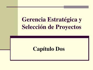 Gerencia Estratégica y Selección de Proyectos