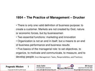 1954 – The Practice of Management – Drucker