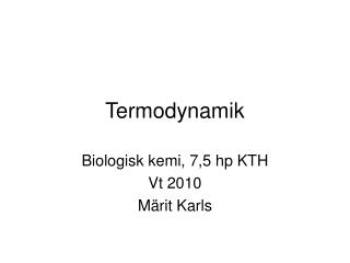 Termodynamik