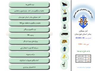 آمار عملكرد   بنادر استان خوزستان شماره سند :  DI-R01- 00 مهر ماه  –  1386 واحد طرح و توسعه