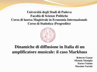 Università degli Studi di Padova Facoltà di Scienze Politiche
