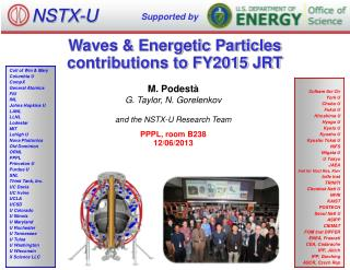 Waves & Energetic Particles contributions to FY2015 JRT