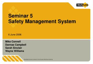 Seminar 5 Safety Management System
