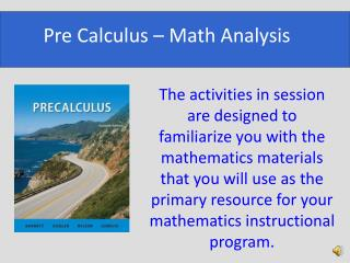 Pre Calculus – Math Analysis