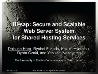 Hi-sap: Secure and Scalable Web Server System for Shared Hosting Services