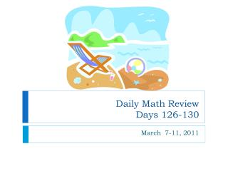 Daily Math Review Days 126-130