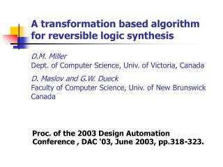 Proc. of the 2003 Design Automation Conference , DAC '03, June 2003, pp.318-323.