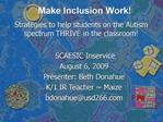 Make Inclusion Work