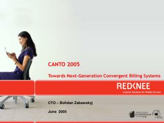 CANTO 2005 Towards Next-Generation Convergent Billing Systems